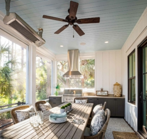 Screened porch at 3 Hearth St