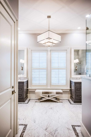 Master bathroom with bench