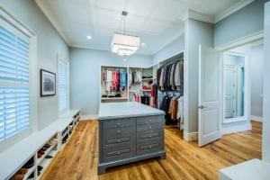Master closet with center island