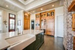 Kitchen with large island and farmhouse sink