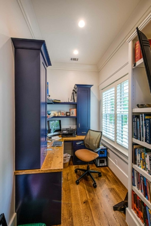 Office with bookcase