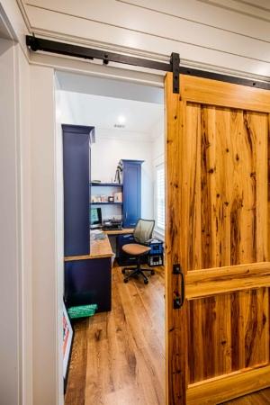 Office with barn door