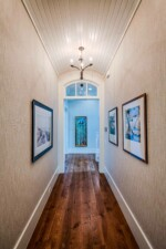 Hallway with a barrel-vault ceiling