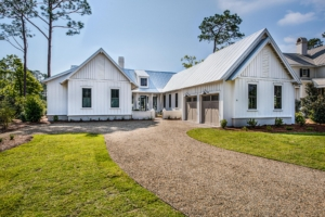 white house with board and batten siding