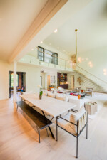 open concept living and dining room