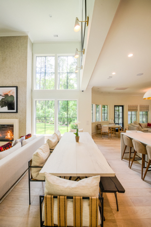 open concept dining/living room