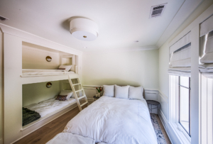 bedroom with built-in bunk beds