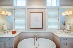 Master bathroom with clawfoot soaking tub
