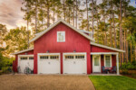 Red barn-style carriage house