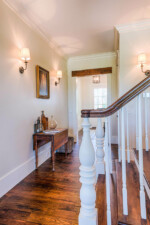 Stairs with reclaimed newel posts