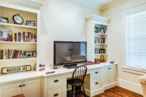 Office with custom built-ins