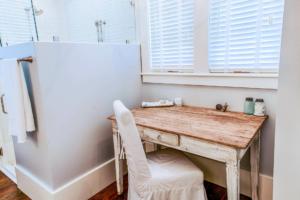 Master bathroom makeup table