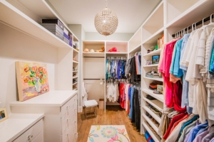 master closet with lots of storage