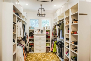 Master closet with custom built-in storage