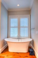 Large white pedestal tub