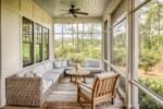 Screened back porch with Ipe decking