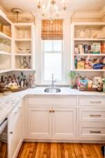 Butler's pantry with Carrara marble countertops