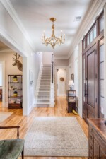 Front entrance hallway with vaulted ceiling