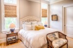 Master bedroom with stacked crown molding