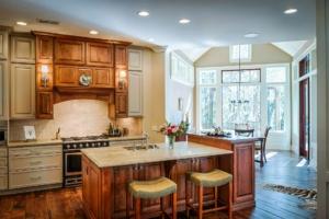 kitchen center island and breakfast nook