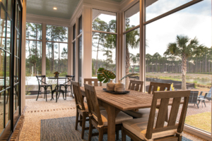Screened porch with outdoor dining