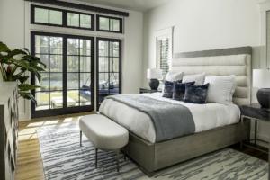 Master bedroom with white oak flooring