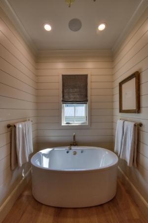 Master bathroom with freestanding soaking tub