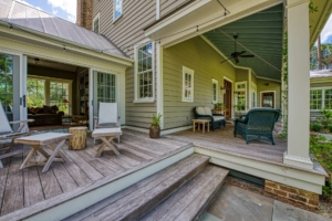 Back porch with sitting areas